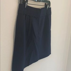 J. Crew size 6 blue skirt with scallop detailing
